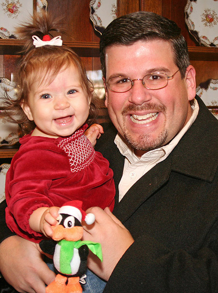 Laney and Daddy Visit Santa